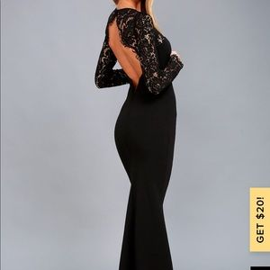 Lulu's Whenever You Call formal maxi dress